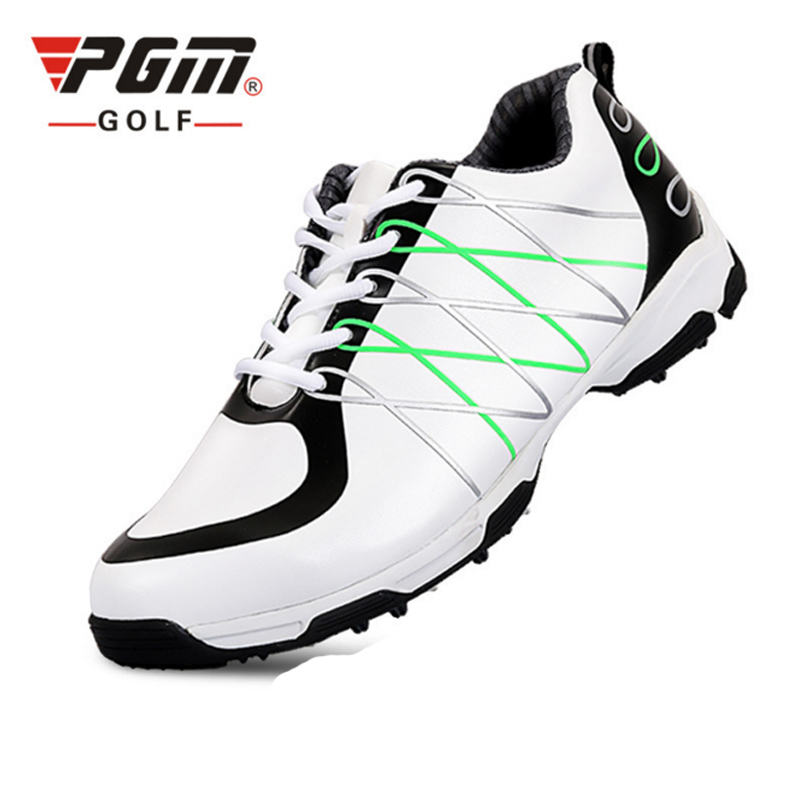PGM PU Men Golf Shoes Lace Up Sport Shoes Breathable Leather Sneaker Golf Shoes Men Waterproof Shoes Zapato Chaussure De Golf pgm men golf shoes breathable athletic sneaker plus size 39 46 mesh sport shoes pu waterproof professional golf shoes for men