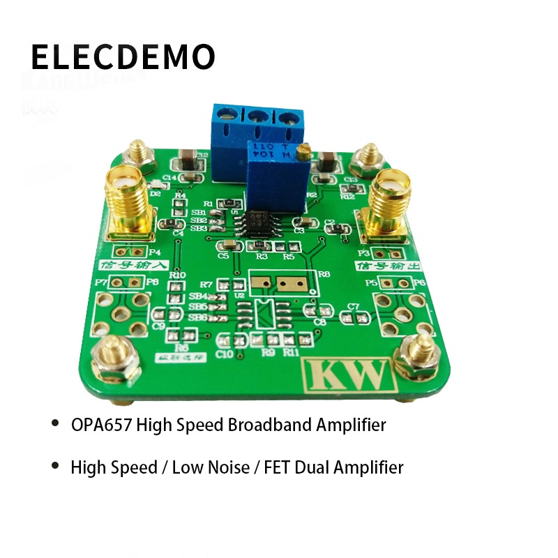 OPA657 Module High Speed Broadband Amplifier High Speed Low Noise FET Dual Amplifier Function demo Board-in Demo Board Accessories from Computer & Office