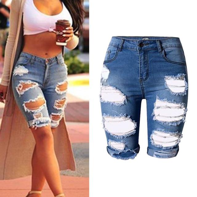 Aliexpress.com : Buy 2017 Shorts Women Hole Denim Short Pants ...