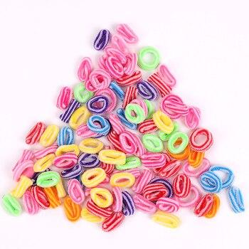 100 sztuk kolorowe dziecko kobiety posiadacze włosów ładna dziewczyna dzieci pasek podwójny kolor gumowa opaska do włosów elastyczne akcesoria do włosów