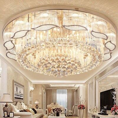 Living room light modern round LEDCrystal ceiling light bedroom lighting simple fashion  gold home light|Ceiling Lights| |  - title=