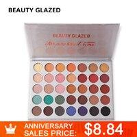 BEAUTY GLAZED Natural Makeup Eyeshadow Palette Matte Shimmer Natural Luminous Long Lasting Matte Shimmer Cosmetics 35
