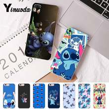 Yinuoda For iphone 7 XSMAX Case cartoon lilo stich ohana Transparent Phone Case for iPhone 8 7 6 6S Plus X 5 5S SE XR XS XSMAX(China)