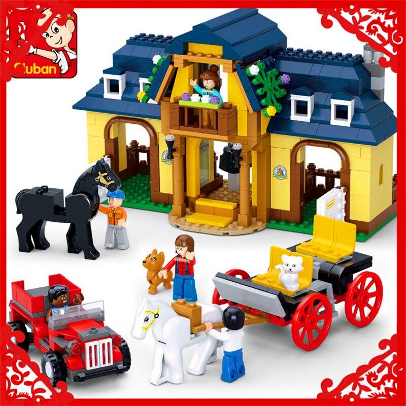 SLUBAN 0560 Happy Farm Pony Ranch Building Block 526Pcs DIY Educational  Toys For Children Compatible Legoe hot sale 1000g dynamic amazing diy educational toys no mess indoor magic play sand children toys mars space sand