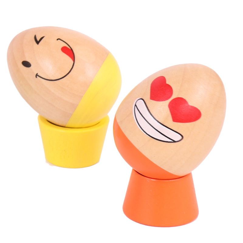 6Pcs/set Baby Wooden Building Toys Egg Shape Blocks Funny Egg Balance Game Educational Toys for Kids Table Game