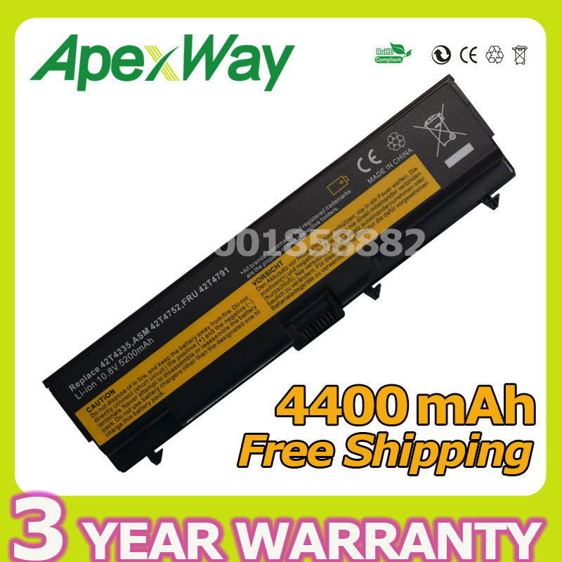Apexway Laptop Battery For Lenovo ThinkPad L410 L420 T410 T420 T510 T520 L512 L412 L421 L510 L520 SL410 SL510 W510 W520 E40 E50