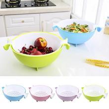 Küche Kunststoff Reinigen Reis Maschine Gemüse Waschbecken Doppel Sieb obstschale obstkorb küche Kochen Werkzeuge Sieb 3