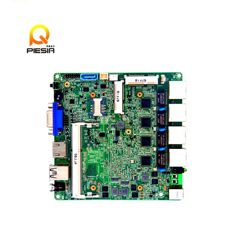Nano ITX Bay Trail MINI Motherboard dual core n2806 Onboard CPU Fan 4 * i1211 Lan MINI Motherboard ultra thin pc d525 motherboard fanless mini itx motherboard with onboard ddr3 2gb ram