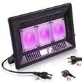 Impermeável 150 W Conduziu a Lâmpada UV 365nm 395nm Cura Ultravioleta Desinfecção Germicida Detector De Metais Subzero Lanterna de Luz Negra