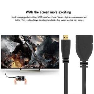 Image 2 - 1080P Micro HDMI Adapter zu HDMI kabel hdmi extender Kabel  Männlich zu Weiblich Micro HDMI Konverter for notebook HDTV gopro TV