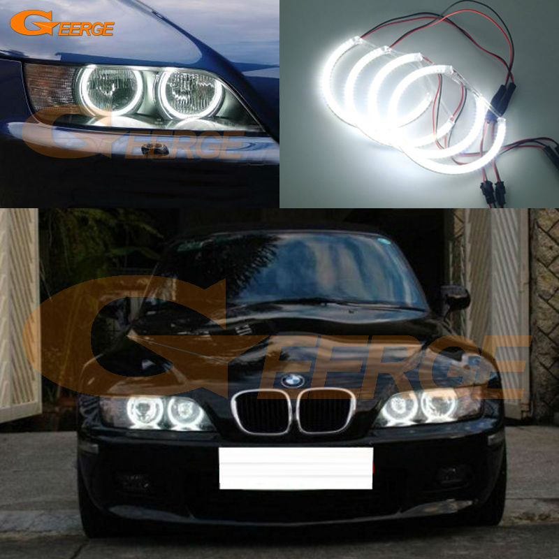 For BMW Z3 1999-2002 HALOGEN headlight Excellent angel eyes Ultra bright illumination smd led Angel Eyes Halo Ring kit for alfa romeo 147 2000 2001 2002 2003 2004 halogen headlight excellent ultra bright illumination ccfl angel eyes kit halo ring