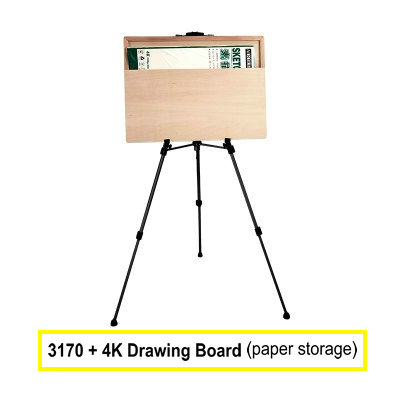 Adjustable Portable Easel For Painting Aluminium Metal Easel Stand With Paper Holding 4K Easel Board