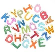 26 шт. Разноцветные деревянные Мультяшные английские буквы магнитные игрушки и хобби умные детские игрушки изысканные украшения на холодильник подарки