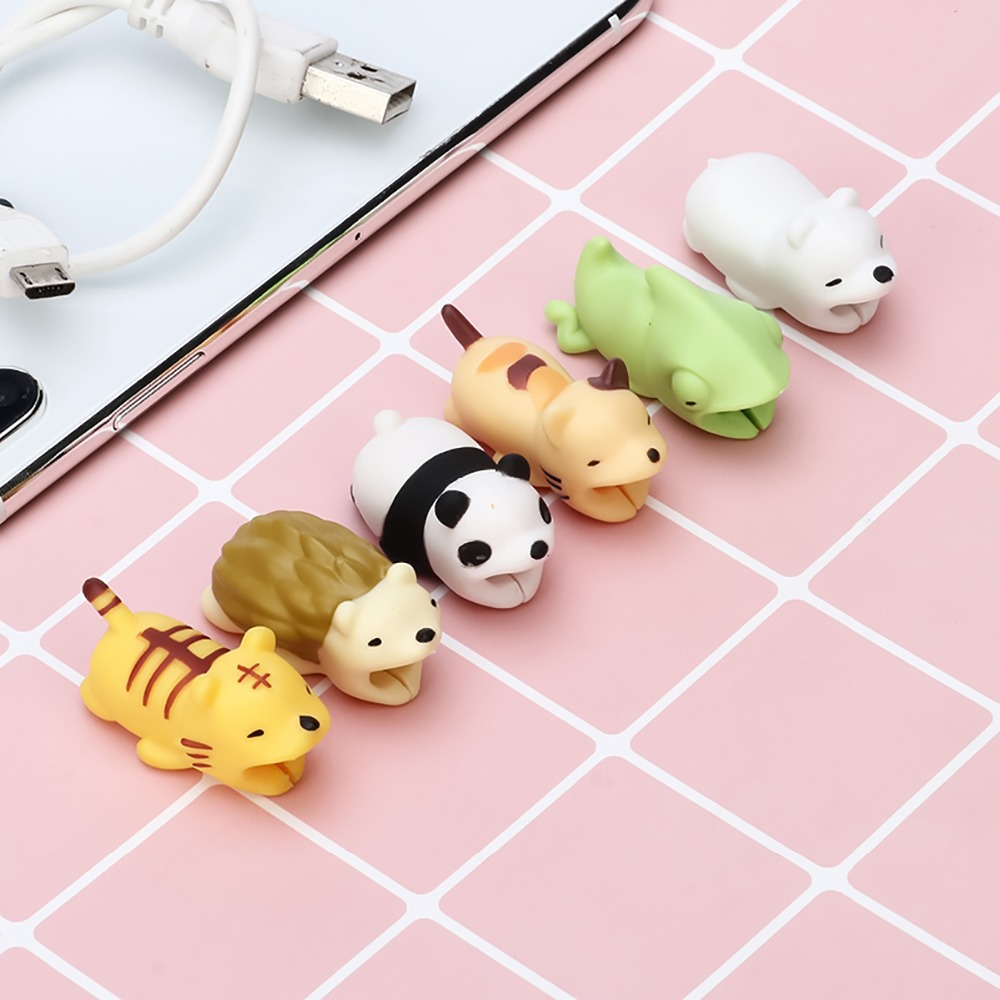 Funny Cable Bite Protector Adapter for Iphone Cables Phone Holder ...