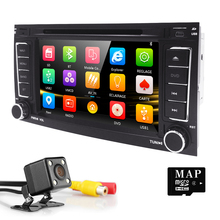 7″AutoRadio 2 din Car DVD player for VW Volkswagen Touareg Transporter T5 Multivan 2004 -2011 GPS Navigation Car audio 3G BT SWC