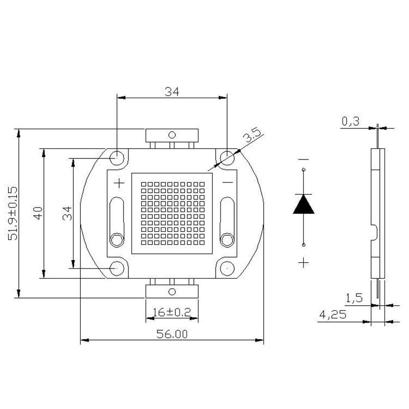 Купить с кэшбэком High Power LED Chip 2018 20W 32W 48W White Warm White Full Spectrum Brightness Light Beads Diode Integrated Light Source
