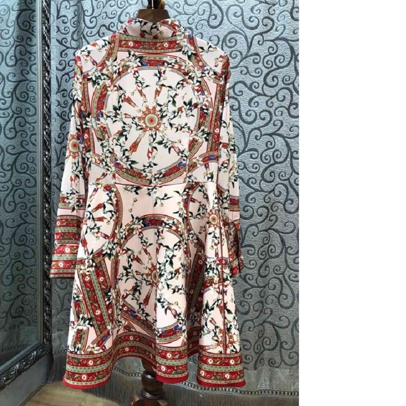 2019 Chemise Pour Été Vêtements Robe Imprimé Longue Style Printemps Floral Femmes white Décontracté Robes Black Haut Grade Élégant Designer EIYWeDH29