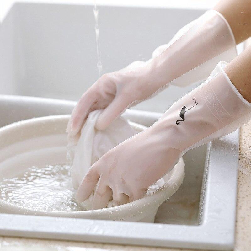 luluhut kitchen dish washing gloves household dishwashing