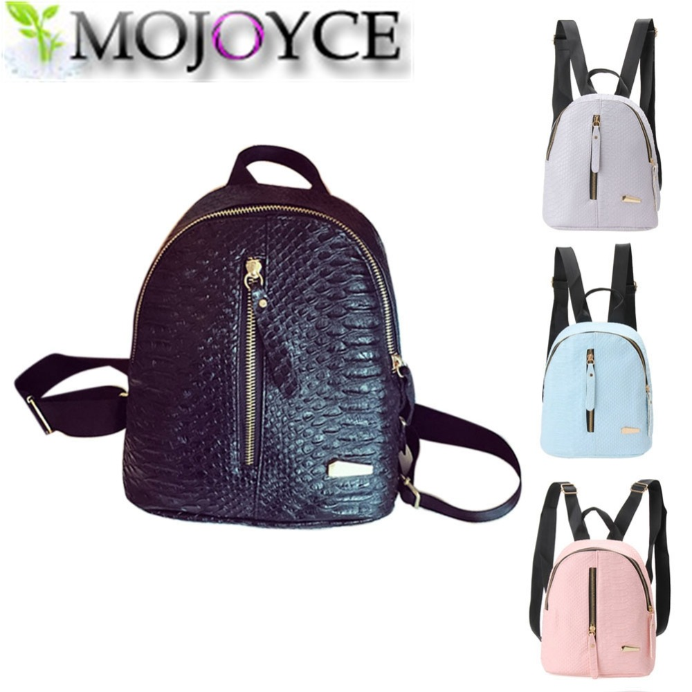 4 Candy Color Women Back Pack Bag 2016 Japan Korea Teenage Student School Travel Bagpack Girls PU Leather Small Backpack