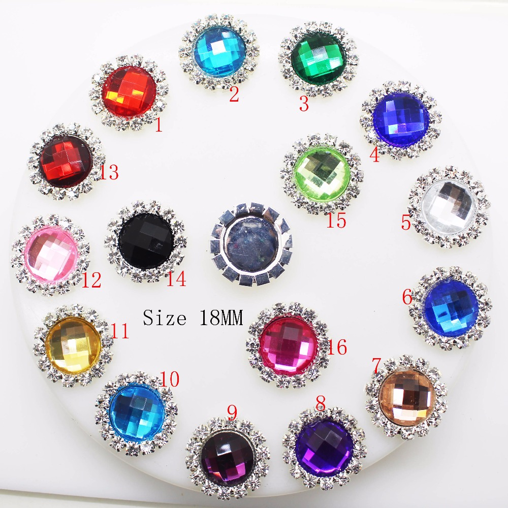 YWXINXI Hot Sale 10Pcs/Lot 18mm Diy Rhinestones Jewelry Accessories For Hand Made New Fashion Shiny Cabochon Setting Supplies