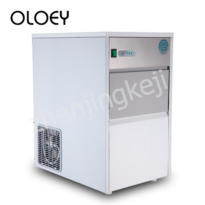 110V Commercial Ice Machine Edible Ice Machine Automatic Shutdown Fast Fully Automatic Stainless Steel Cold Drink Power Saving