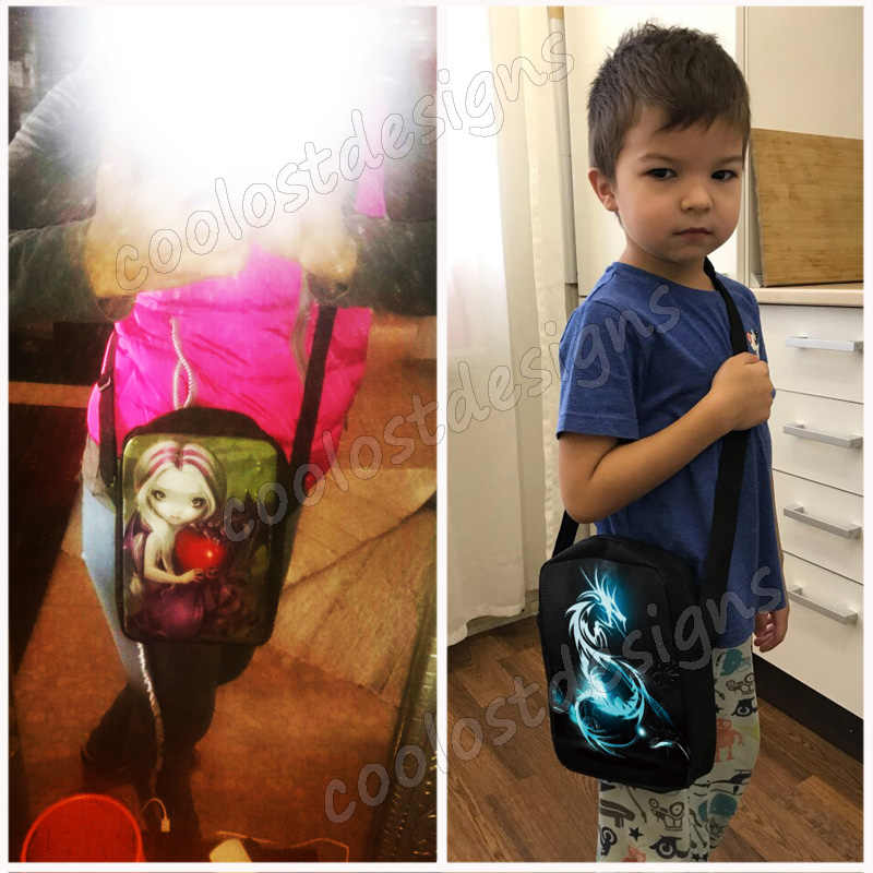 Funny Russian Cartoon The Fixies Mini Messenger Bag Boys Girls Small Shoulder Bag Kids Crossbody Bags Schoolbag Baby Bookbag