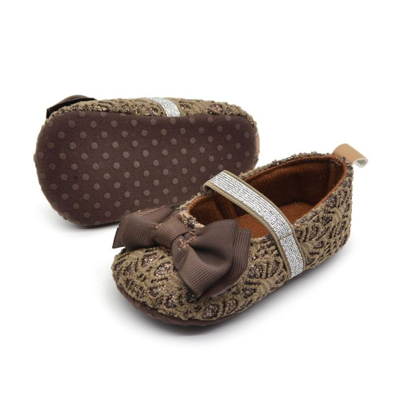 Newborn Bowknot Baby Shoes Toddler Soft Soled Flower Crib Shoes Anti-slip