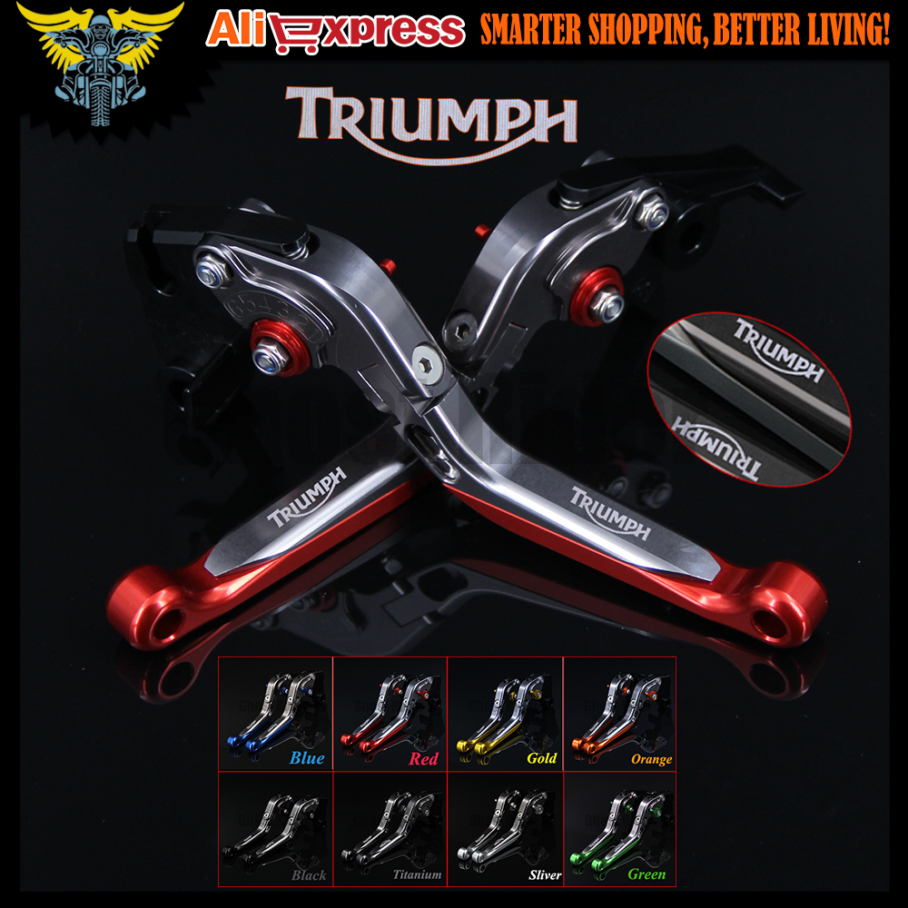Red+Titanium 8 Colors CNC Adjustable Folding Extendable Motorcycle Brake Clutch Levers For Triumph THRUXTON R 2016 motorcycle brake clutch handle lever for bmw f650gs f700gs f800gs f800r f800s f800st f800gt motorbike clutch brake lever