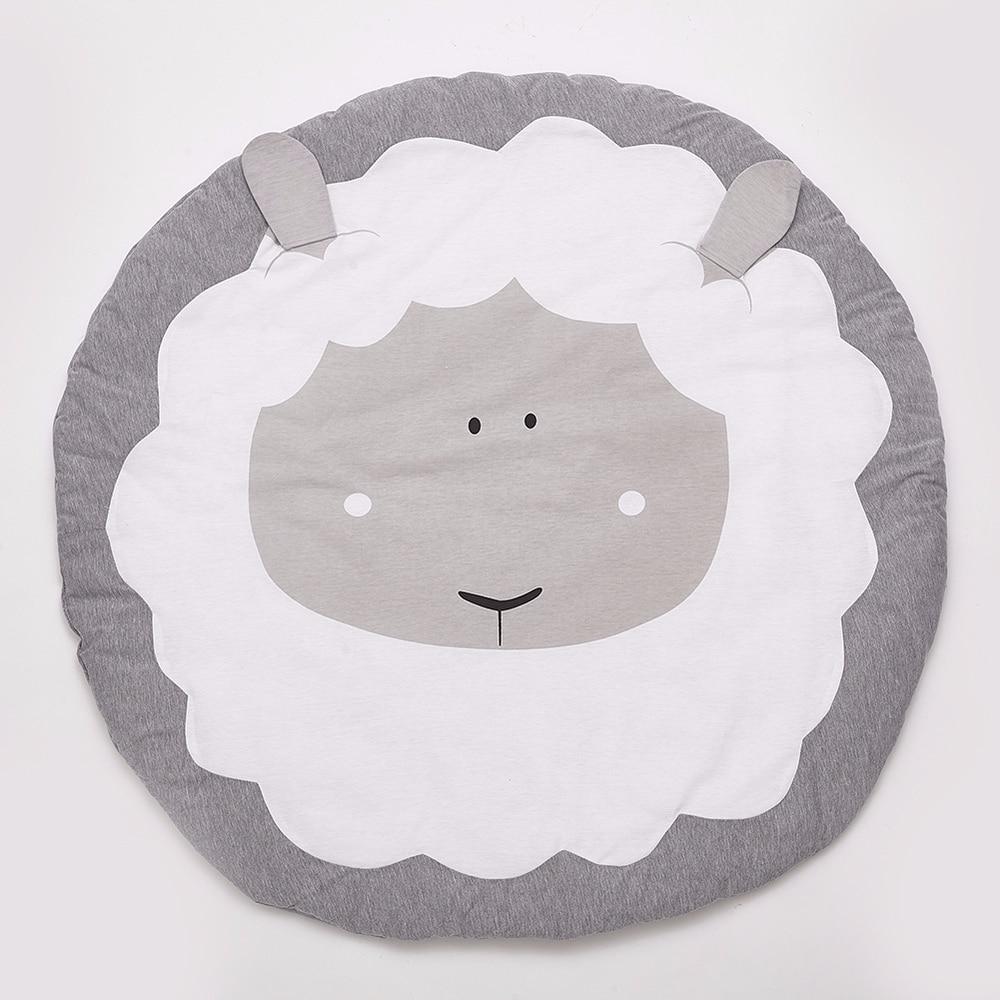 Animaux mouton bébé tapis de jeu enfant ramper couverture tapis jouets sac de rangement nordique enfants chambre décor - 5