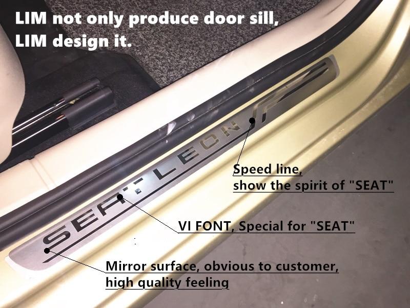 Acciaio spazzolato Battitacco Adesivi Coperture per le soglie  Seat Ateca