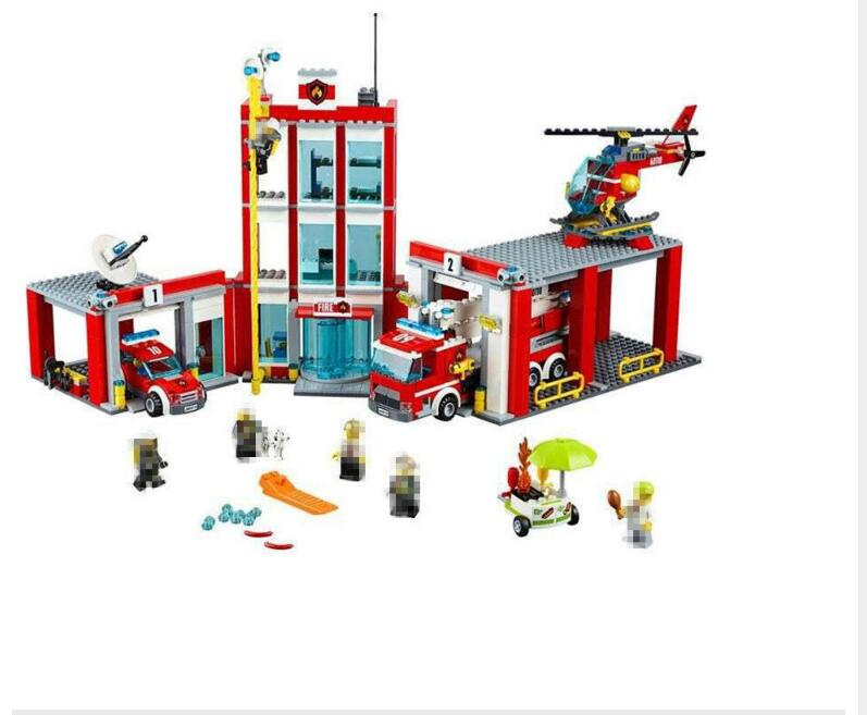 Lepin 02052 1029 pcs City Fire Station Building Block Brick Toy Educational DIY Compatible With 60110 Christmas Gift канефрон раствор для приема внутрь 100 мл