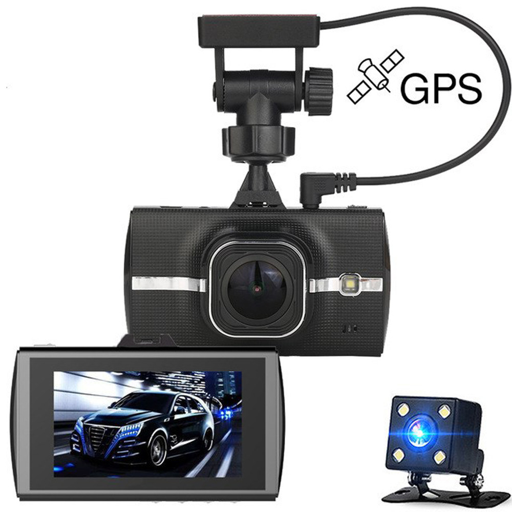 Automobile Dvr Gps Full HD 1080p Dual Camara Lens Video Recorder ADAS LDWS Night Vision Car Dash Cam Drop Shipping