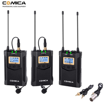 Wireless Lavalier Microphone System Comica CVM WM100 PLUS  Lapel Mic for Canon Nikon Fuji Sony DSLR Cameras,Camcorder,Smartphone