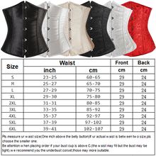 Satin Sexy Bustier Lace up Boned Top Corset Overbust Plus Size S M L XL-6XL