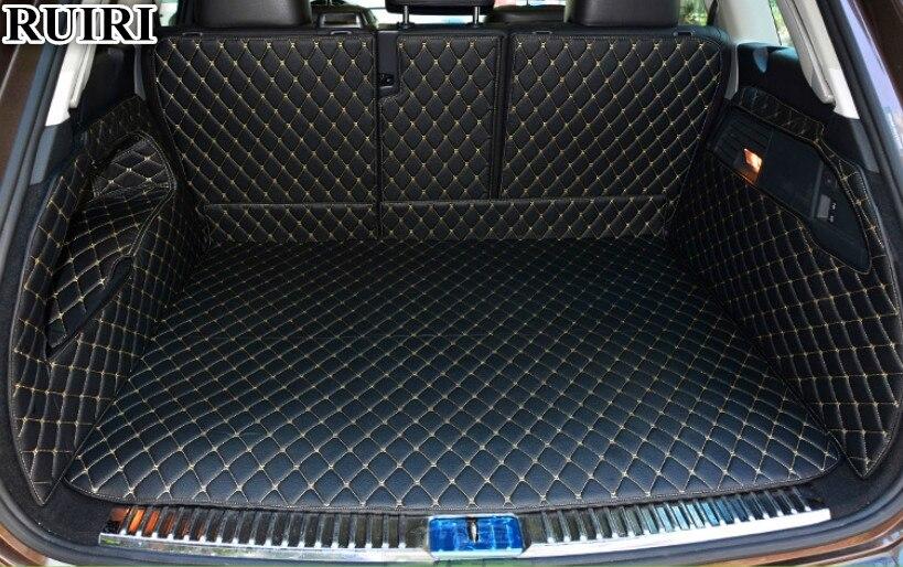 Haute qualité tapis! Ensemble complet de voiture tronc tapis pour Volkswagen Touareg 2019 botte imperméable tapis cargo liner tapis pour Touareg 2018