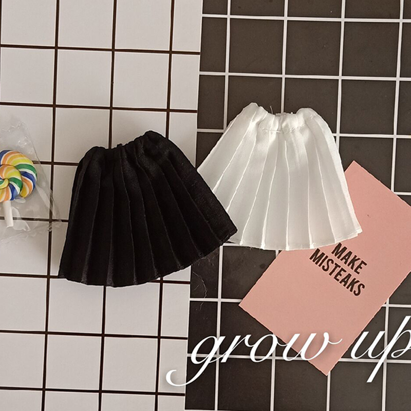 1/6 Fashion Pleated Skirt Blyth Dress Doll's Blyth Clothes For Ob24 Licca Azone Pullip Doll Clothing For 1/6 Dolls Accessories