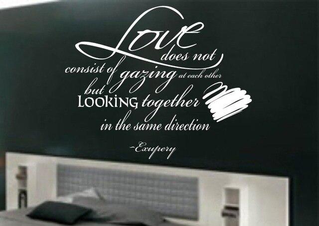 Slaapkamer Muur Quotes : Liefde niet bestaan uit staren elkaar muur kunst quote slaapkamer