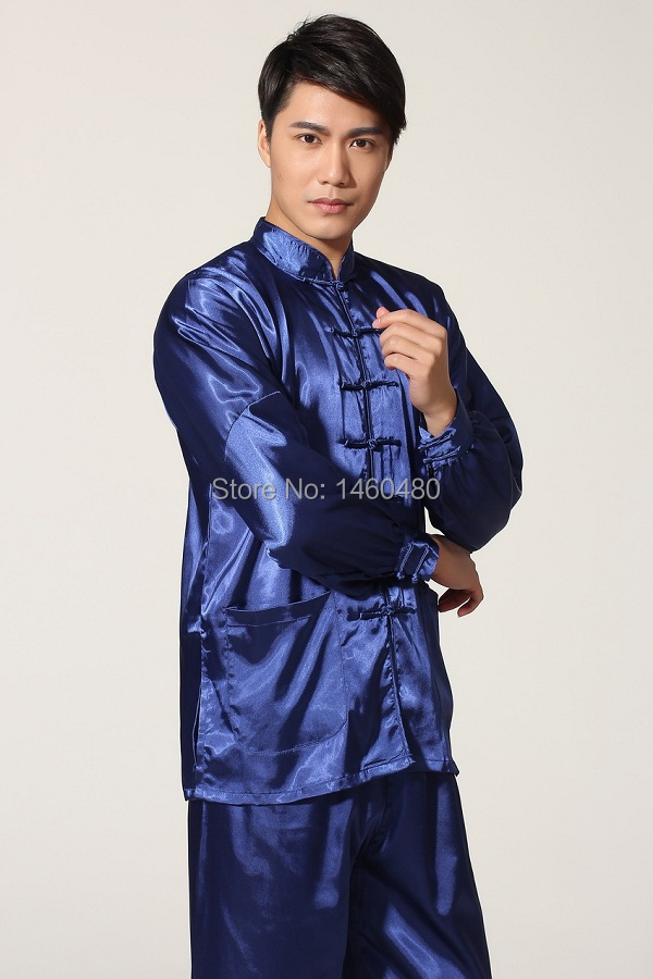 Aliexpress.com : Buy China style Men's silk Kung Fu suit pajamas 5 ...
