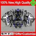 7gifts Jordan Black For SUZUKI GSXR 600 750 2008 2009 2010 4MC894 K8 GSX R600 R750 08-10  GSXR750 Blue black 08 09 10 Fairing