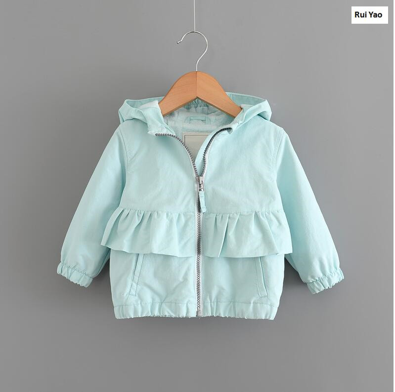 YP176140 Spring Baby Jacket For Girls Jacket Girl Coat Fashion Hooded Full Sleeve Girl Outerwear Kids Clothes Windbreaker Kids