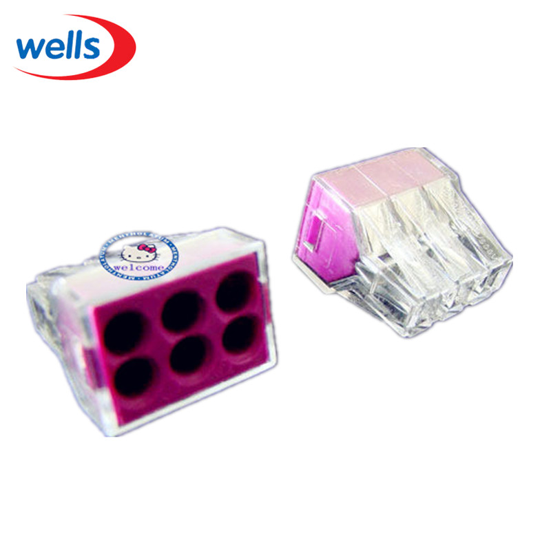 LED 20 PCS WAGO PCT 106 Push Wire Wiring Connector For Junction Box 6 Pin Conductor