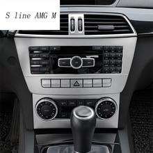 Автомобиль Стайлинг Газа Кондиционер CD Панели Декоративные Крышки Отделки Авто Аксессуары Для Интерьера для Mercedes Benz C Class W204 11-14