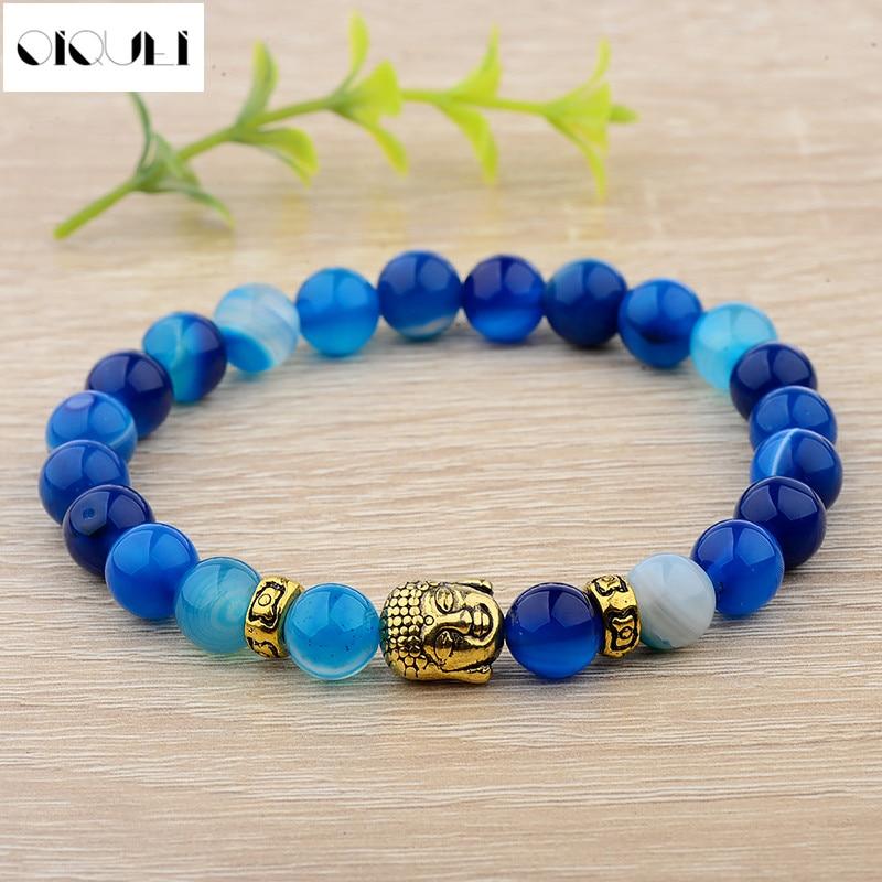 2018 Fashion Buddha Copper Beads Bracelets Women Men Rope Chain Colorful Stone Classic Bracelets Femme Pulseras Jewelry Gift