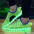 Nueva Led de Zapatos Brillantes de 6 Colores Los Hombres de Moda Luminoso Led la luz HASTA Los Zapatos para Adultos Cesta LLEVÓ Zapatos zapatillas deportivas mujer