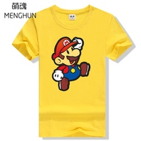Lovely Anime Character Super Mario Brothers Mario Mini Cute Printing Tee Shirt Mario T Shirts Gift