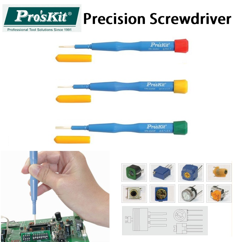 Proskit Precision Ceramic Screwdriver Non-magnet Anti-static SMD Components Adjust Screwdriver High frequency circuit adjustment free shipping brand proskit upt 32007d frequency modulated electric screwdriver 2 electric screwdriver bit 900 1300rpm tools