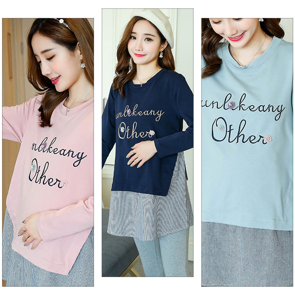 29b543c923f ... Maternity Blouses Tops Pregnancy Clothes For Pregnant Women Clothing  Casual Korean Version Fashion Shirt Maternity Wear