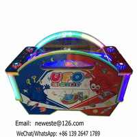 Indoor Amusement Coin Operated UFO Ice Air Hockey Table Arcade Game Machine
