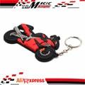 For Suzuki GSXR1300 Hayabusa motorcycle fans PVC Sided rubber keychain key chains