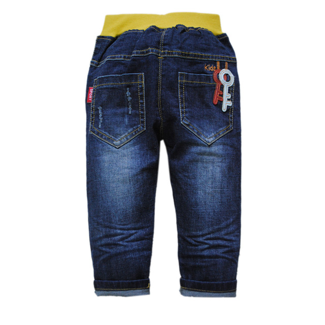 7f7eb587e 5954 baby jeans boy denim jeans pants boys navy blue baby trousers ...